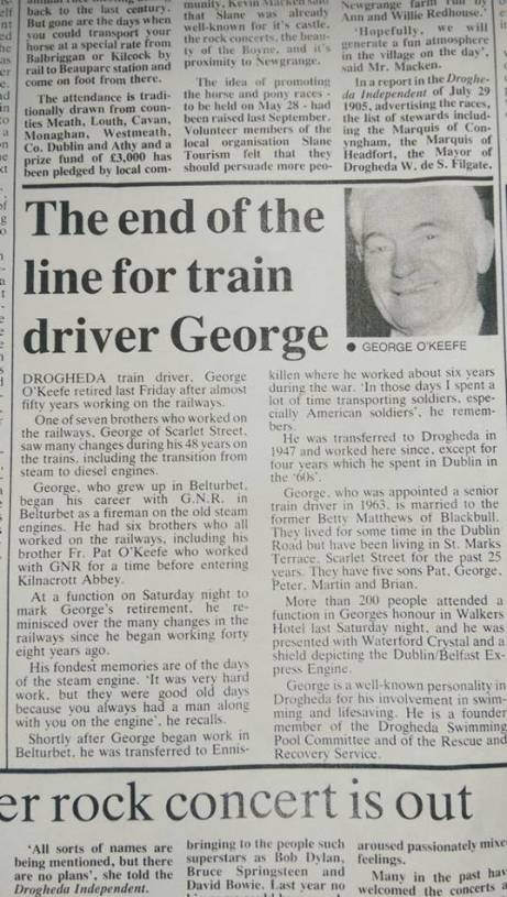 George O'Keefe Train Driver